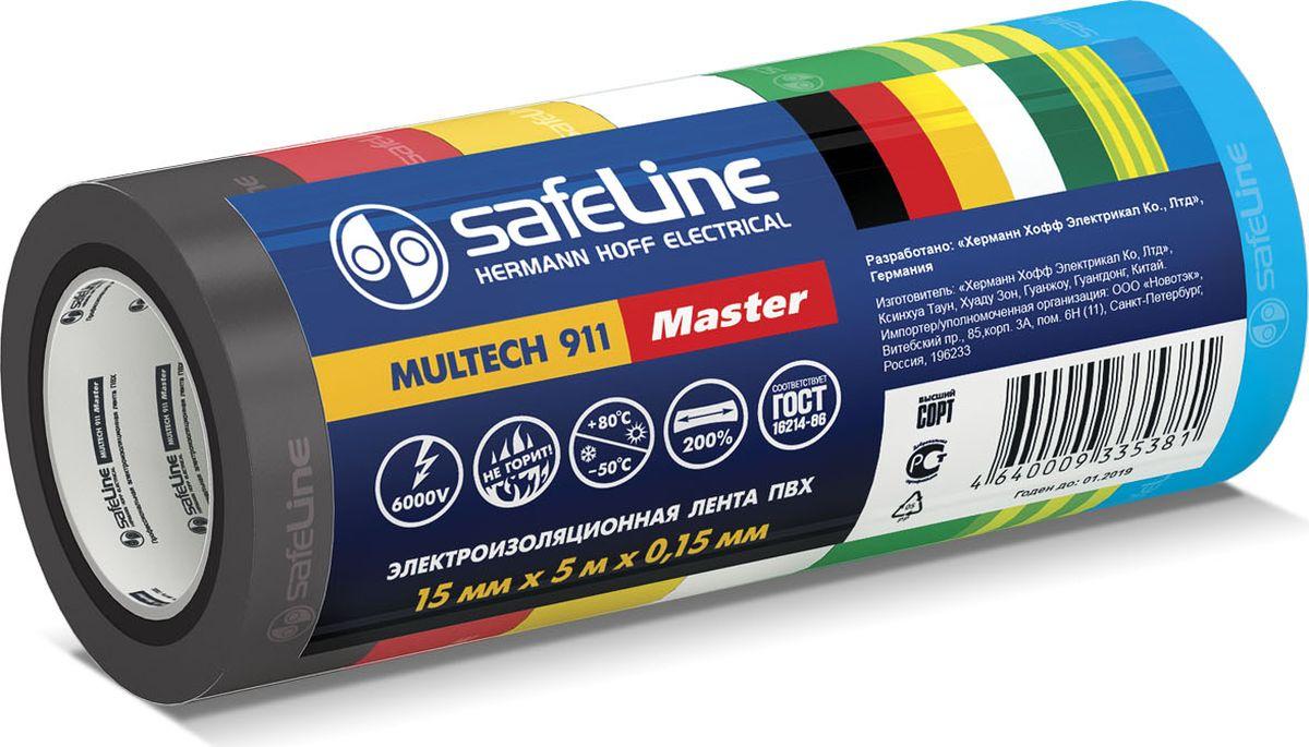 Лента изоляционная Safeline, ширина 1,5 см, длина 5 м, 7 шт22899Ширина 15 мм, длина 5 м, толщина 0,15 мм Адгезия (липкость) - 45сек Прочность при растяжении – 15МПа Напряжение пробоя – 6000В Максимальное удлинение - 200% Температура эксплуатации от -50 до +80оС Устойчива к горению Уменьшенный диаметр ролика Соответствует ГОСТ, высший сорт