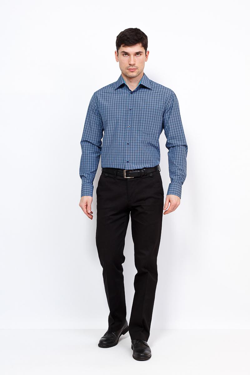 Рубашка мужская Casino, цвет: синий. c225/1/101/Z/1. Размер 44 (56-174/184) shirt men s short sleeve casino c335 0 7461 z gray
