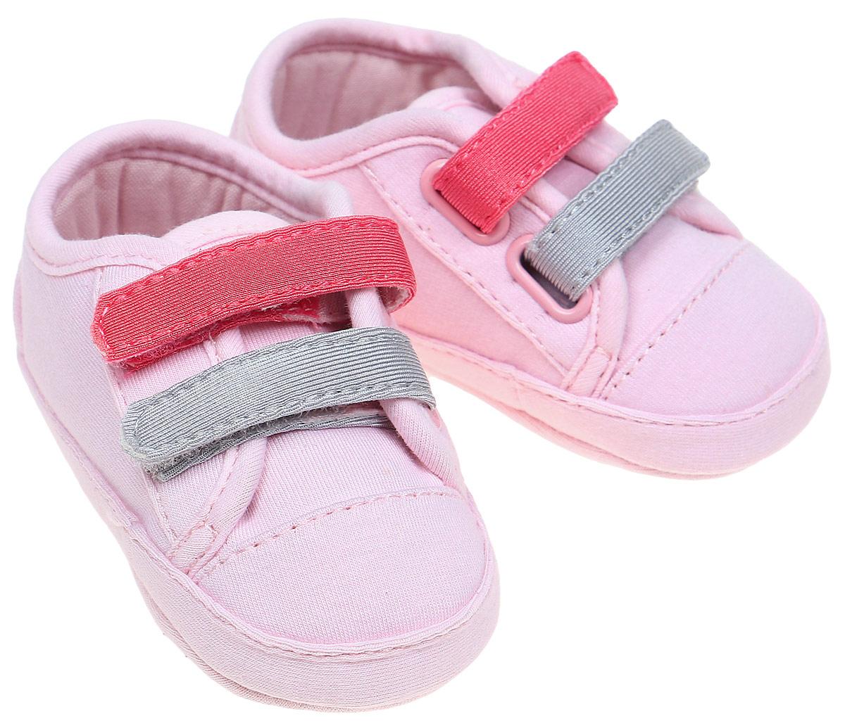 Пинетки детские United Colors of Benetton, цвет: розовый. 8H8CN1087. Размер 168H8CN1087Пинетки детские United Colors of Benetton выполнены из текстиля. Модель застегивается на липучки.