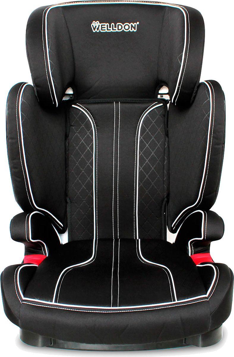 Welldon Автокресло Magic Nacre цвет черный от 15 до 36 кгBS05-BГруппа 2/3 (от 15 до 36 кг) - используйте с 3-х до 12-ти лет.Вес автокресла без упаковки чуть меньше 5 кг - легко донести до (и от) машины.
