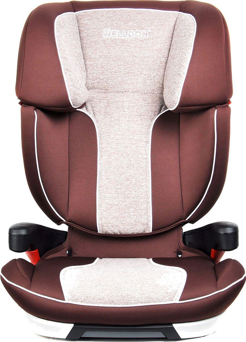 Welldon Автокресло IsoFix Cocoon Travel Fit цвет коричневый от 15 до 36 кгBS09-TГруппа 2/3 (от 15 до 36 кг) - используйте с 3-х до 12-ти лет.Вес автокресла без упаковки приблизительно 6,5 кг - легко донести до (и от) машины.