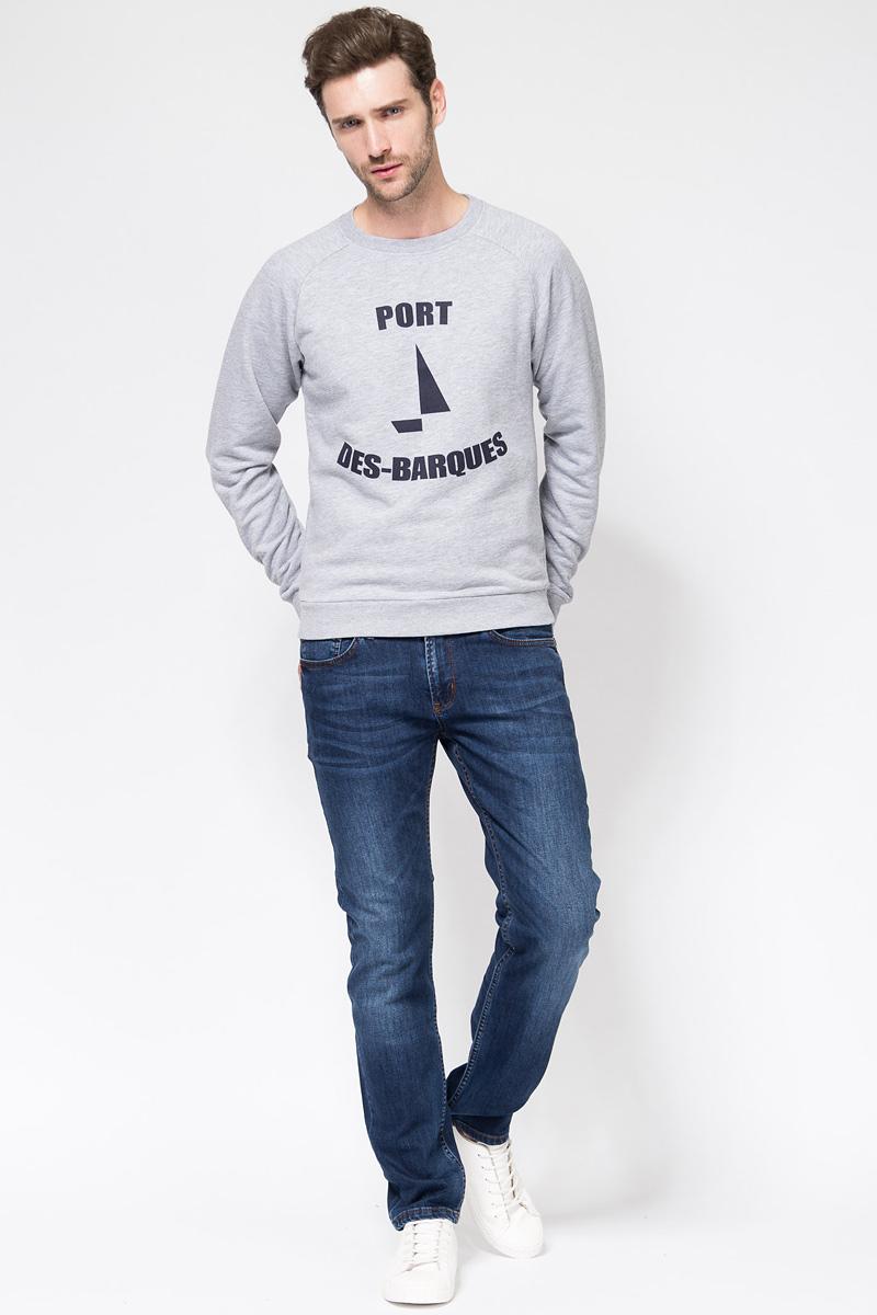 Свитшот мужской Tom Farr, цвет: серый. TM8049.55701-2-coll. Размер XL (52)