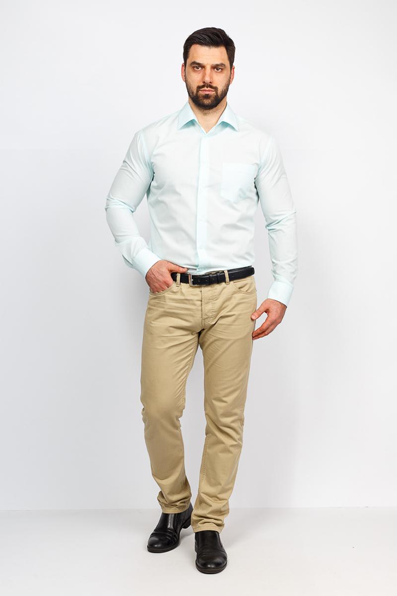 Рубашка мужская Casino, цвет: светло-зеленый. c400/1/01/Z. Размер 44 (56-174/184) рубашка мужская casino цвет синий c230 1 010 z размер 44 56 174 184