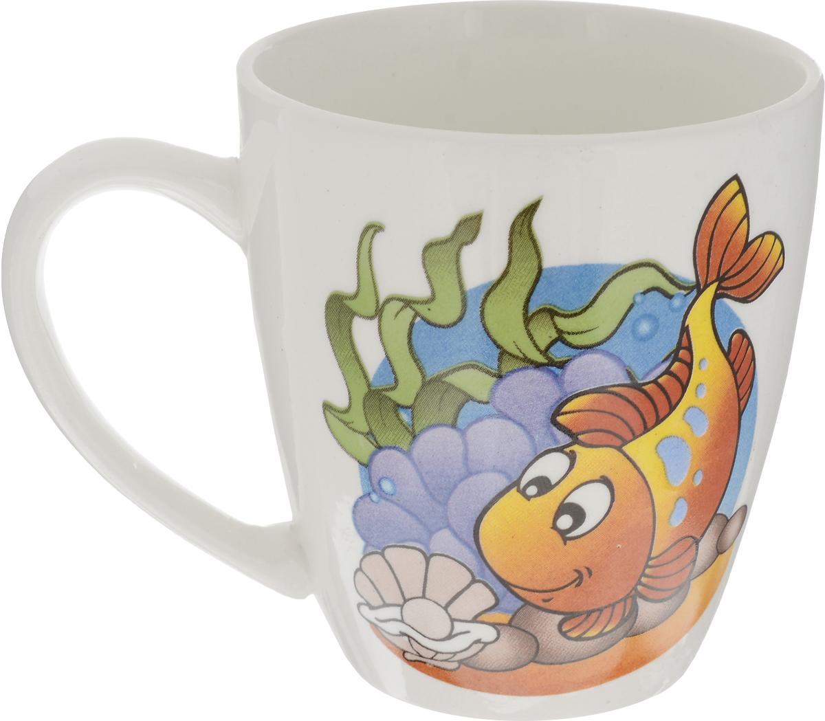 Кубаньфарфор Кружка детская Морской мир Рыбка 220 мл 113173772706Фаянсовая детская посуда с забавным рисунком понравится каждому малышу. Изделие из качественного материала станет правильным выбором для повседневной эксплуатации и поможет превратить каждый прием пищи в радостное приключение. Особенности: - простота мойки, - стойкость к запахам, - насыщенный цвет.