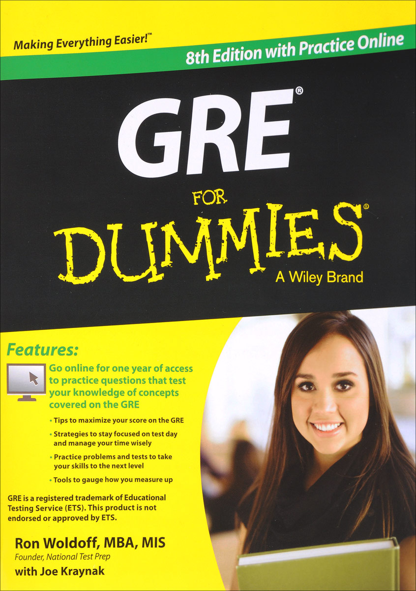 GRE For Dummies: with Online Practice Tests gre verbal and writing chinese edition