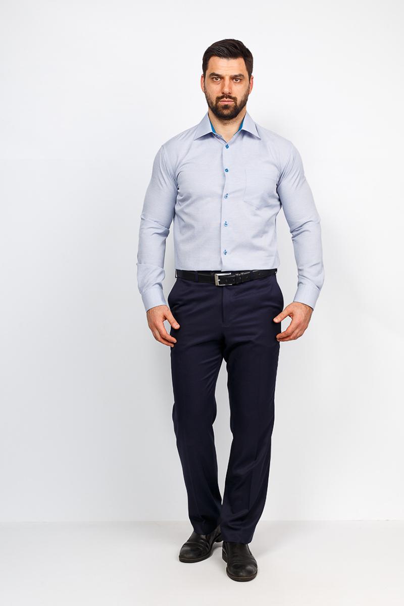 Рубашка мужская Casino, цвет: голубой. c123/1/147/Z/1. Размер 44 (56-174/184) рубашка мужская casino цвет синий c230 1 010 z размер 44 56 174 184
