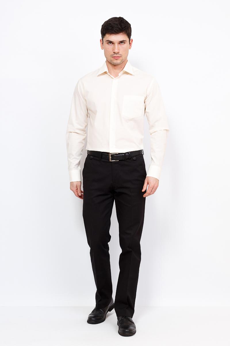 Рубашка мужская Casino, цвет: бежевый. c500/1/005/Z. Размер 44 (56-174/184) рубашка мужская casino цвет синий c230 1 010 z размер 44 56 174 184