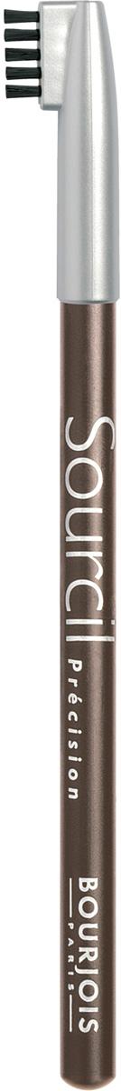 Bourjois контурный карандаш для бровей sourcil precision Тон 07 noisette 1 мл29101344007Брови играют решающую роль в характере взгляда. Плотная текстура карандаша позволяет наполнить брови красивым, натуральным цветом. Идеальная щеточка придает бровям безупречный вид. Карандаш Sourcil Precision не растекается и позволяет при желании изменить форму брови.