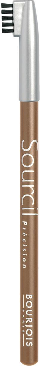 Bourjois контурный карандаш для бровей sourcil precision Тон 06 blond clair 1 мл29101344006Плотная текстура карандаша позволяет наполнить брови красивым, натуральным цветом. Идеальная щеточка придает бровям форму. Карандаш не растекается и позволяет при желании изменить форму бровей.Как создать идеальные брови: пошаговая инструкция. Статья OZON Гид