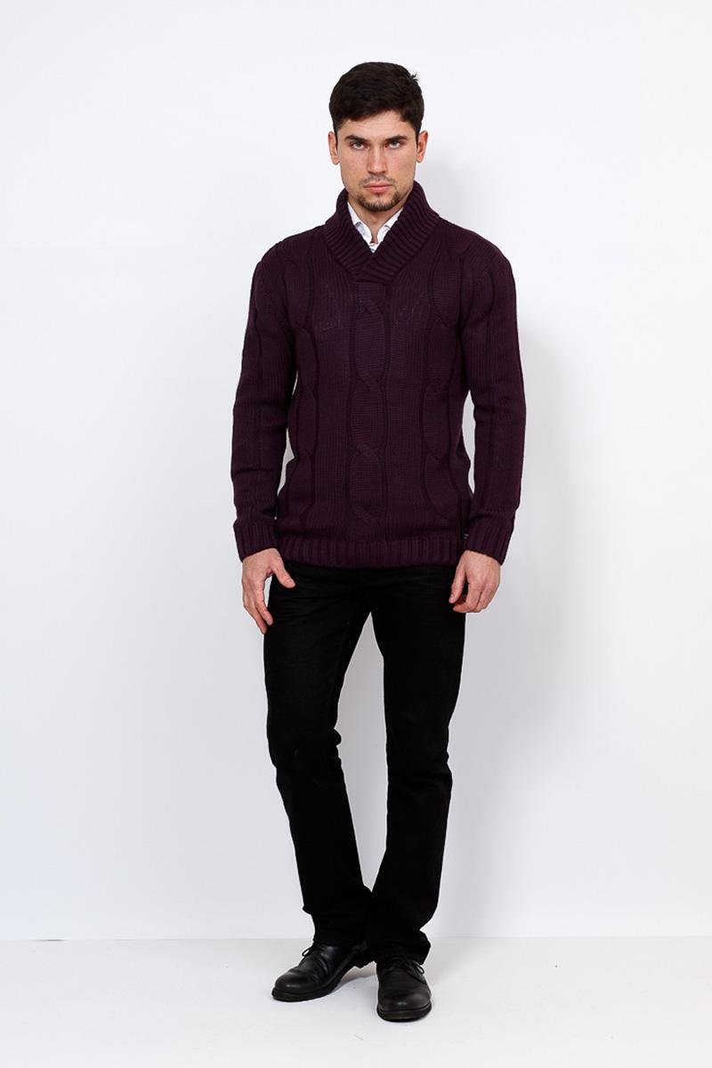 Джемпер мужской Greg, цвет: фиолетовый. G137-07. Размер 52G137-07Мужской джемпер Greg с воротником шалька отлично смотрится в сочетании с сорочкой или брюками. В комплектации с джинсами модель может поддерживать направление casual. Трикотаж Greg - практичный выбор мужчин, умело сочетающих классический стиль с последними модными трендами.