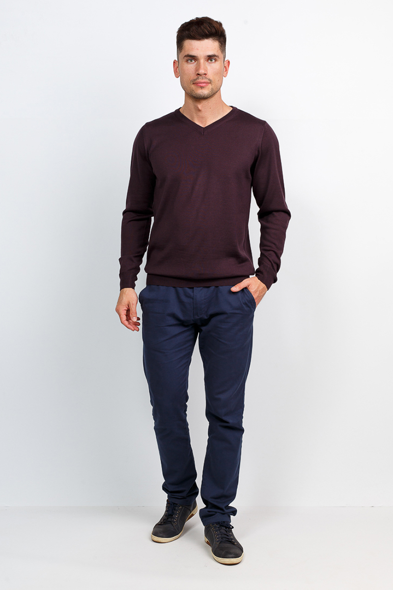 Джемпер мужской Greg, цвет: коричневый. G124-5654. Размер 58 джемпер мужской шерсть