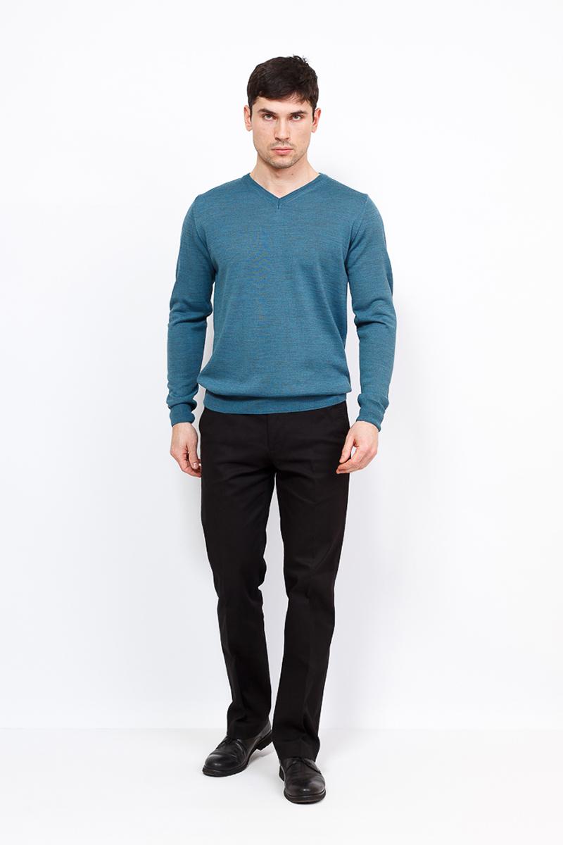 Джемпер мужской Greg, цвет: бирюзовый. G124-4574. Размер 56 джемпер мужской шерсть