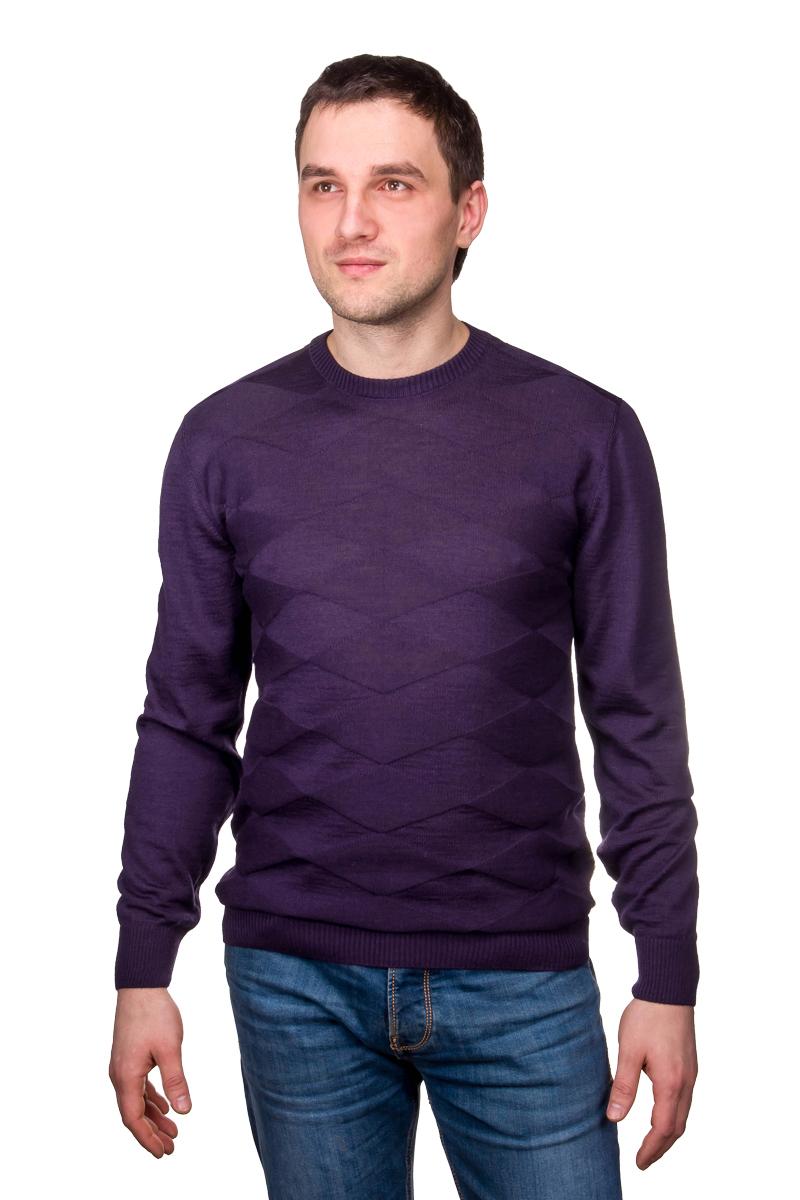 Джемпер мужской Casino, цвет: фиолетовый. c121-ромбы. Размер 52-174/184 мужской трикотаж интернет магазин розница дешево