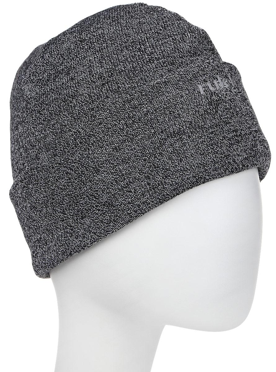 Шапка мужская Rukka, цвет: серый. 870683793RV-899. Размер L (60)870683793RV-899Мужская шапка Rukka выполнена из высококачественного материала. Теплая шапка с отворотом отлично подойдет для активного отдыха. Модель оформлена логотипом бренда.