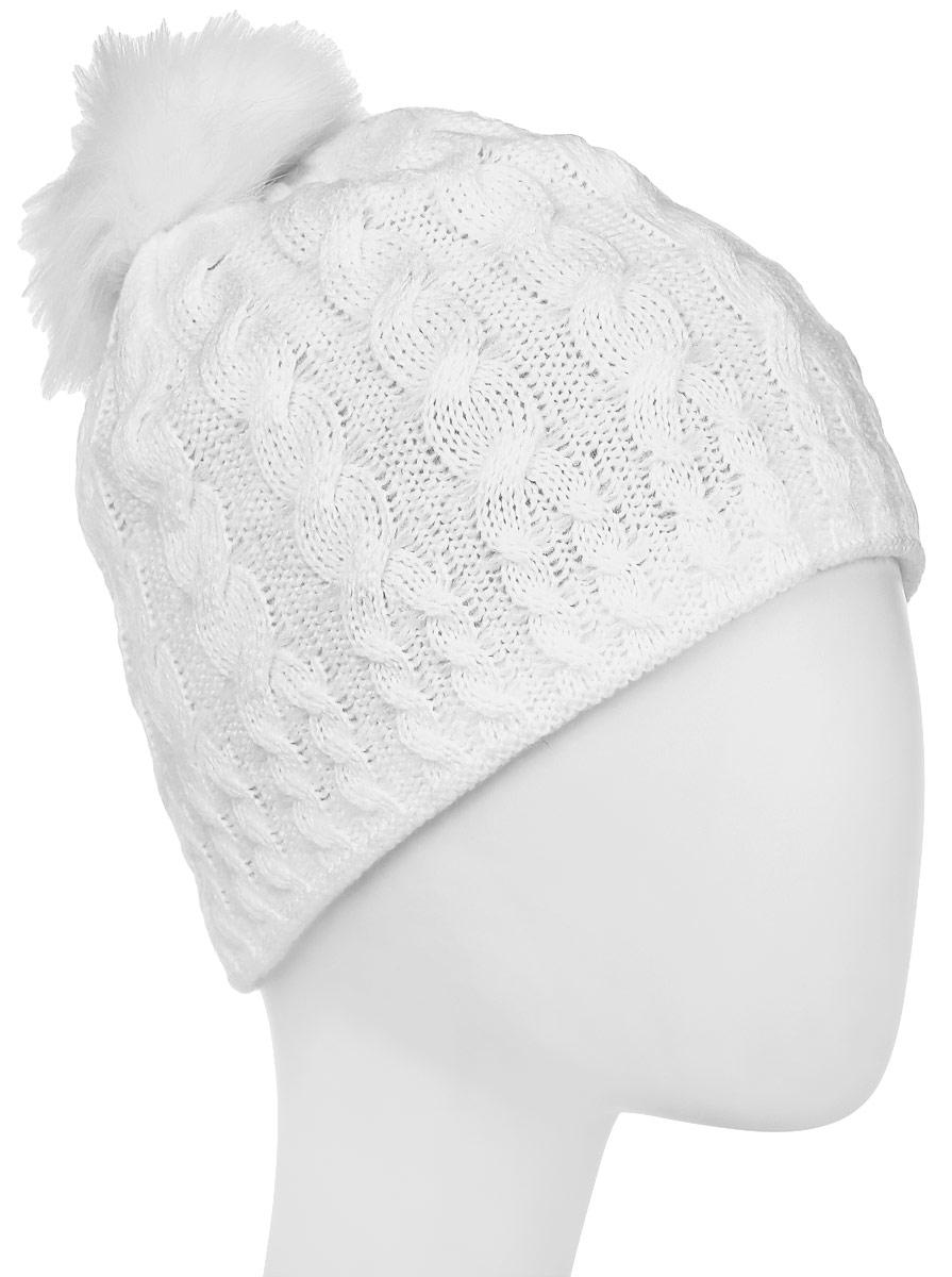 Шапка женская Rukka, цвет: белый. 878731200RV-980. Размер M (56)878731200RV-980