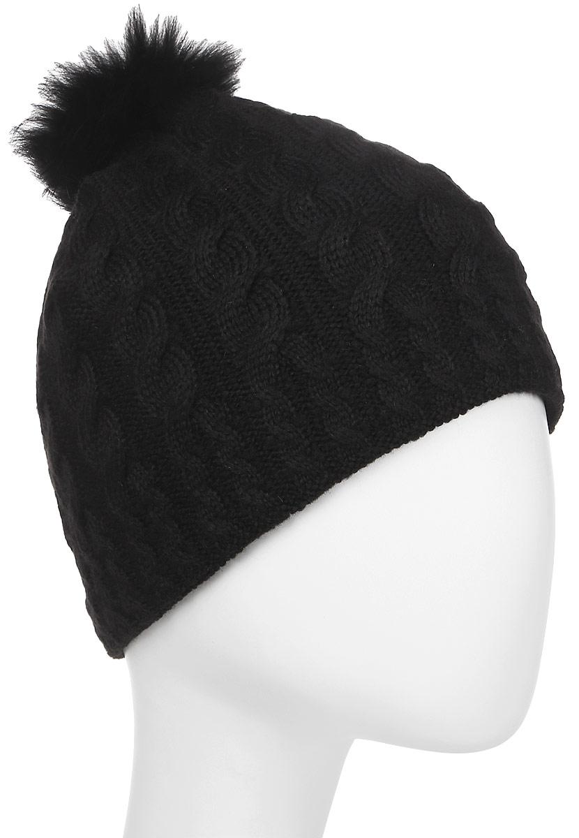 Шапка женская Rukka, цвет: черный. 878731200RV-990. Размер M (56)878731200RV-990