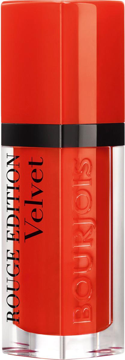 Bourjois Флюид Для Губ Бархатный Rouge Edition Velvet Тон 2029101273020Помада с матовым эффектом, обладает кремообразной текстурой, абсолютно неощутима на губах. Стойкость до 16 часов.Какая губная помада лучше. Статья OZON Гид