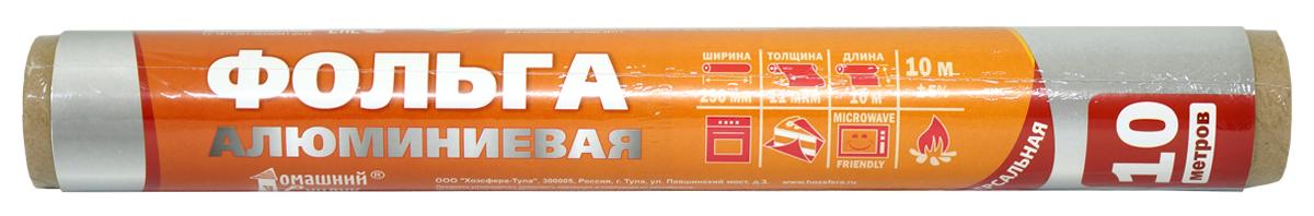 Фольга пищевая Домашний Сундук, 30 см х 10 мДС-104Универсальная алюминиевая фольга Домашний Сундук является удобным материалом для приготовления и хранения продуктов. Она обладает прочностью, жаростойкостью, непроницаема для влаги и жира, сохраняет свежесть и качество продуктов в течение длительного времени, а также не накапливает посторонние запахи.Толщина фольги: 11 мкм.