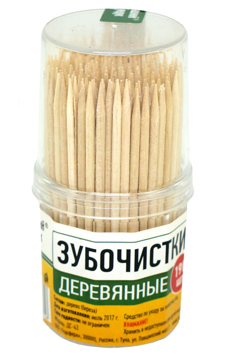 Зубочистки Домашний Сундук, 190 штДС-43Зубочистки Домашний Сундук предназначены для ухода за полостью рта после приема пищи. Изготовлены из древесины высокой плотности. Не слоятся, не ломаются, прочные, имеют отличную заточку. Можно использовать в качестве шпажек для канапе. Изготовлены без отбеливания. Поставляются в удобной прозрачной пластиковой баночке по 190 штук