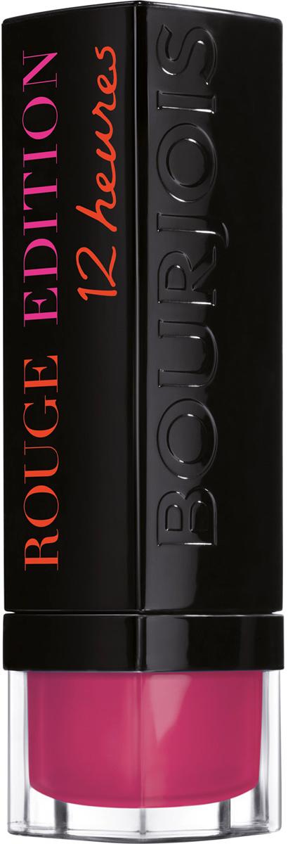 Bourjois Стойкая Помада Для Губ Rouge Edition 12 Часов Тон 32 rose vanity 4 мл29101264032Помада ROUGE EDITION 12часов Матовая помада, которая держится и ухаживает за губами 12 часов.Новшество Очень стойкий цвет с комфортом для губ.Формула помады обогащена экстрактом масла ореха ши, что обеспечивает комфорт и увлажнение губам, и экстрактом шелка, что придает матовый эффект и равномерное нанесение.Результат: равномерный насыщенный матовый цвет и уход в течение 12 часов!Какая губная помада лучше. Статья OZON Гид