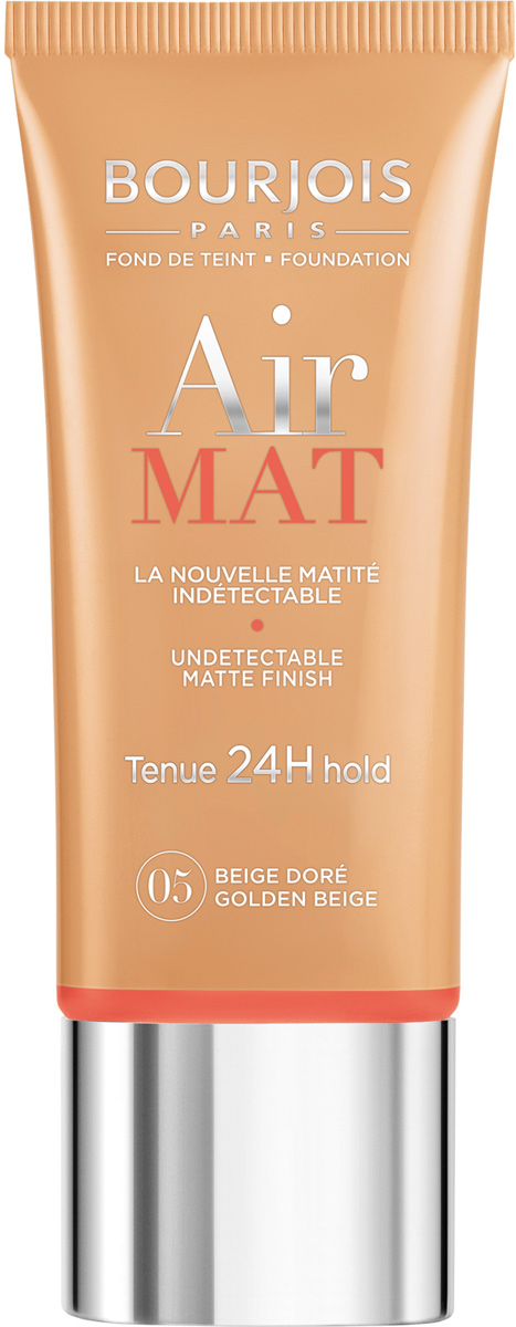 Bourjois Крем Тональный Для Лица Air Mat- Found De Teint Тон 05 beige dore 30 мл29101247005Матирование и стойкость 24 часа, скрывает несовершенства без эффекта маски, матирует излишний блеск на коже, сохраняя при этом сияние кожи, инновационные инкапсулированные пигменты обеспечивают свежий и естественный тон, невесомая текстура превращается в легкую вуаль невероятной стойкости и равномерно распределяется, фильтр SPF 10.