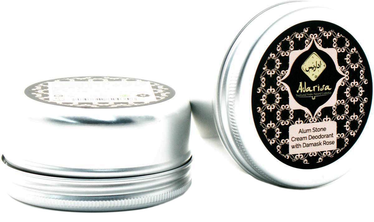 Adarisa Алунитовый крем-дезодорант с дамасской розой, 50 грADAR0138Натуральный алунитовый крем-дезодорант с дамасской розой создан с учетом специфических потребностей чувствительной и склонной к раздражениям кожи. Мягкая кремовая консистенция средства обеспечивает непревзойденный комфорт для кожи, которая одновременно получает бережную заботу и самую эффективную защиту от пота. Крем-дезодорант не просто нейтрализует неприятный запах, но и оставляет на коже нежный цветочный аромат, идеально дополняющий и повседневный, и вечерний образ.Дамасская роза известна не только своим упоительным ароматом, но и выраженным успокаивающим воздействием на кожу. Она дополняет и усиливает уникальные свойства природного алунита, которые позволяют не просто регулировать потоотделение, но и ухаживать за чувствительной кожей подмышечных впадин. Кремовый дезодорант обеспечит мягкое снятие раздражений, зуда и иных болезненных ощущений, мешающих чувствовать себя комфортно в течение дня. Он помогает затягивать ранки и порезы после использования бритвы или эпилятора, а также ежедневно поддерживает нормальную микрофлору кожи, останавливая размножение вредных микроорганизмов, вызывающих нежелательный запах. Алунитовый дезодорант представляет собой самую безопасную защиту от пота: он не содержит тальк, спирт и синтетические отдушки, а потому не нарушает естественного дыхания клеток и не пересушивает кожу. Это наилучшая альтернатива химическим антиперспирантам, которые препятствуют нормальной работе потовых желез и лишь маскируют запах пота, не устраняя самой его причины. Алунитовый дезодорант позаботится о продлении свежести и чистоты Вашей кожи и позволит Вам наслаждаться тонким ароматом цветочных лепестков в течение всего дня.