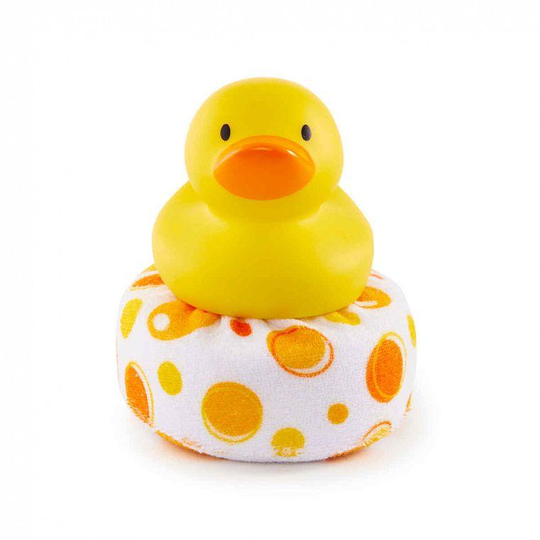 Munchkin Мочалка-игрушка для ванны Уточка игрушки для ванны munchkin игрушка для ванны пингвин пловец