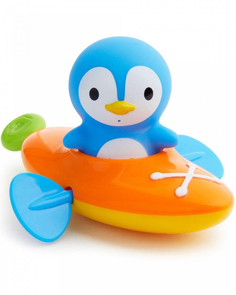 Munchkin Игрушка для ванны Пингвин и пловец в лодке от 18 месяцев игрушки для ванны munchkin игрушка для ванны пингвин в лодке