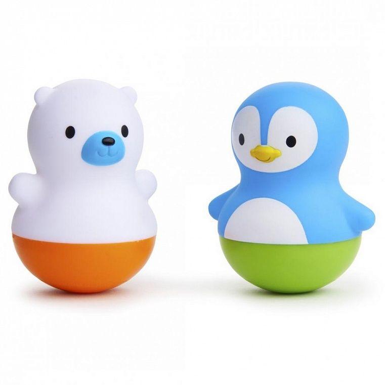 Munchkin Игрушки для ванны поплавки Медведь и Пингвин от 6 месяцев игрушки 6 месяцев для мальчика