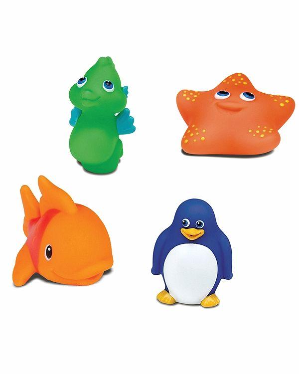 Munchkin Игрушки для ванны Морские животные 4 шт игрушки для ванны munchkin игрушка для ванны пингвин пловец