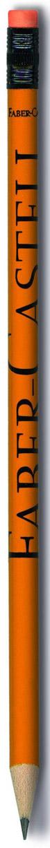 Faber-Castell Карандаш чернографитный Style с ластиком цвет оранжевый112700_оранжевыйЭргономичный чернографитный карандаш с ластиком из отборной древесины, твердость НВ. Специальная технология вклеивания (SV) предотвращает поломку грифеля. Ластик карандаша средней жесткости изготовлен из экологически чистого и гипоаллергенного материала термопластичной резины (TPR).