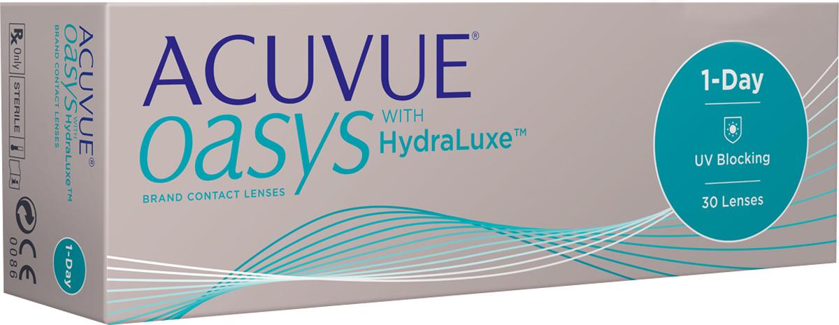 Johnson & Johnson контактные линзы 1-Day ACUVUE Oasys with Hydraluxe 30pk /Радиус 8.5 /Диоптрии -6.00785810068517