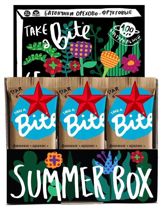 Take A Bite Шоколад-Мускатный орех Star батончик фруктово-ореховый, 20 шт по 45 г00000000573Для тех, кто не боится менять стереотипы. Для сильных духом со здоровым телом. Будь мечтой, будь сильным вместе со Star Bite.Уважаемые клиенты! Обращаем ваше внимание на то, что упаковка может иметь несколько видов дизайна. Поставка осуществляется в зависимости от наличия на складе.