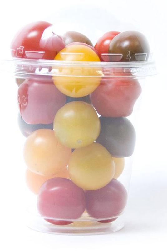 Томаты Черри Фестиваль, разноцветные, 250 г2379Томаты черри Фестиваль используются в качестве закуски, для приготовления различных салатов и для консервирования. Содержат как минимум в полтора раза больше ценных веществ (глюкозы, фруктозы, витаминов, минералов), чем обычные помидоры.