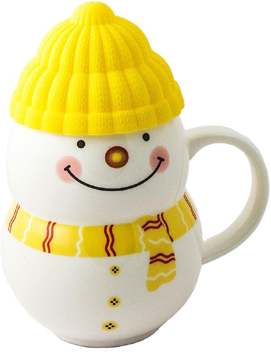 Leysan Снеговик подарочный набор чай черный с кружкой (желтый), 30 г10169-00YПрекрасный насыщенный вкус и аромат этого чая согреет и придаст сил, а красивая упаковка послужит отличным подарком для друзей и близких. Керамическая кружка Снеговик с силиконовой шапочкой-крышкой поднимет настроение во время чаепития и создаст атмосферу уюта на вашей кухне.