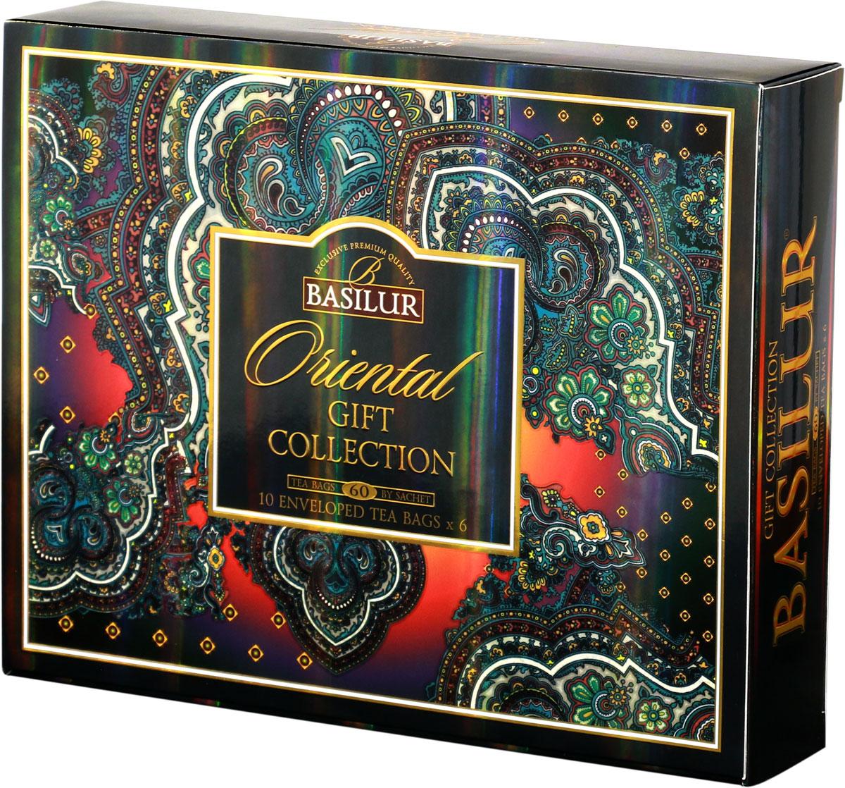 Basilur Assorted Oriental черный и зеленый чай в пакетиках, 60 шт70932-00На протяжении многих веков черным чаем наслаждаются как согревающим и успокаивающим напитком, а зеленый используют в качестве освежающего и утоляющего жажду. Получите удовольствие от чашки чая Basilur, приготовленной по древнейшим традициям. Насладитесь исключительной свежестью чая и удобством хранения в красивой упаковке.Всё о чае: сорта, факты, советы по выбору и употреблению. Статья OZON Гид