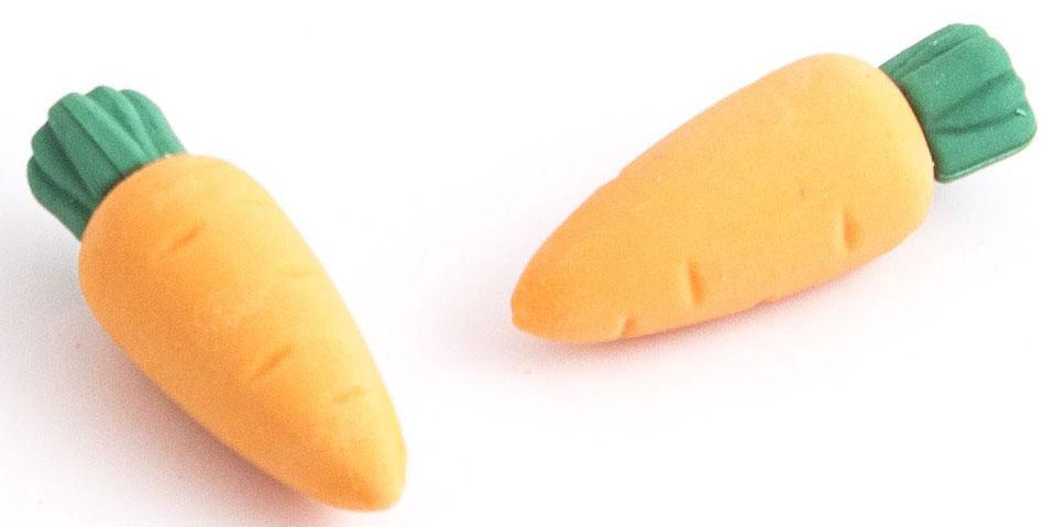 Эврика Набор ластиков Морковки 2 шт98439Нескучная канцелярия. Набор из двух забавных фигурных ластиков в виде фруктов, овощей или сладостей упакован в удобный слюдяной пакет. Ластики выглядят так аппетитно, что мы вынуждены предупредить: товар не предназначен для питания, просим использовать ластики исключительно по назначению – для стирания карандашных записей. Не рекомендовано детям младше 3-х лет. Материал: резина.