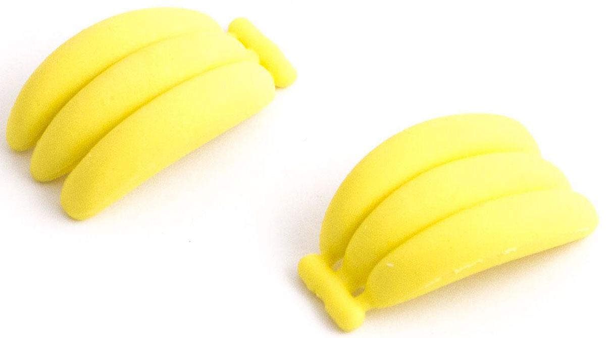 Эврика Набор ластиков Бананы 2 шт98441Нескучная канцелярия. Набор из двух забавных фигурных ластиков в виде фруктов, овощей или сладостей упакован в удобный слюдяной пакет. Ластики выглядят так аппетитно, что мы вынуждены предупредить: товар не предназначен для питания, просим использовать ластики исключительно по назначению – для стирания карандашных записей. Не рекомендовано детям младше 3-х лет. Материал: резина.