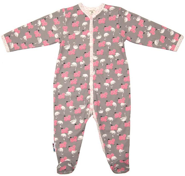 Комбинезон домашний детский Luky Child, цвет: серый. А2-101/цв. Размер 74/80А2-101/цв