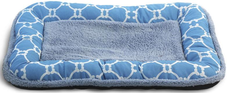 Лежак-матрас для животных Triol Лазурный берег, цвет: голубой. Размер S, 55 x 36 x 5 см лазурный берег