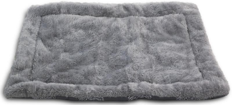 """Лежак-матрас для животных Triol """"Сказочный лес"""", цвет: серый. Размер XS, 58 x 41 см"""