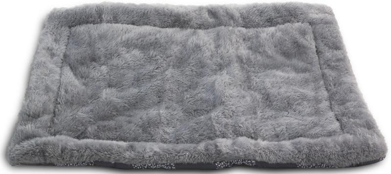 Лежак-матрас для животных Triol Сказочный лес, цвет: серый. Размер M, 85 x 63 см поводки triol поводок со светоотражающей строчкой серый размер m 20 x 1200мм