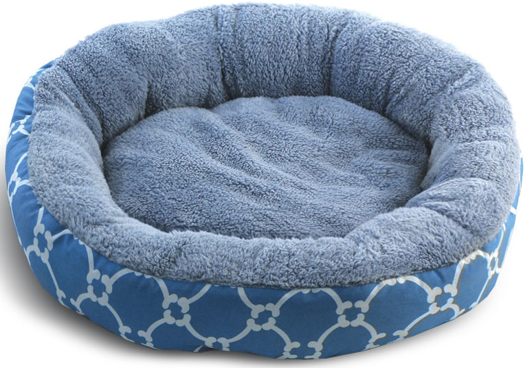 Лежанка для животных Triol Лазурный берег, круглая, цвет: голубой. Размер M, 630 x 630 x 110 мм лежанка triol disney monsters 2 1000 700 20мм