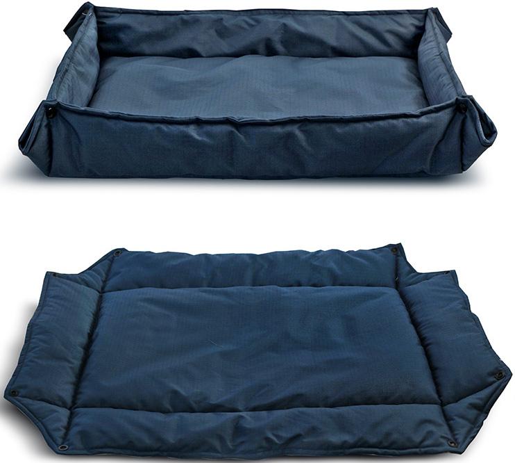 Лежанка-трансформер для животных Triol Комфорт, цвет: синий. Размер S, 68 x 58 см лежанка triol плетеная веревочная с вырезом белая 68 48 18 13 см