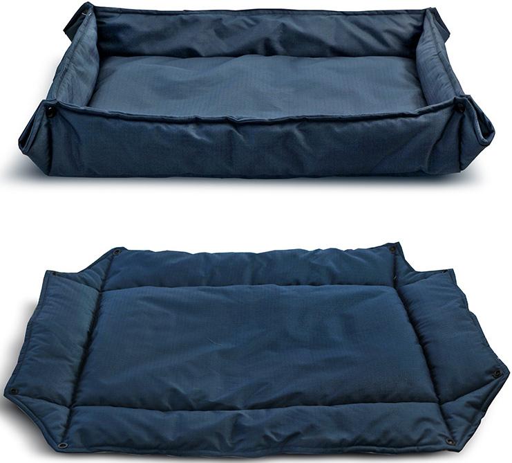 Лежанка-трансформер для животных Triol Комфорт, цвет: синий. Размер L, 88 x 68 см лежанка triol плетеная веревочная с вырезом белая 68 48 18 13 см
