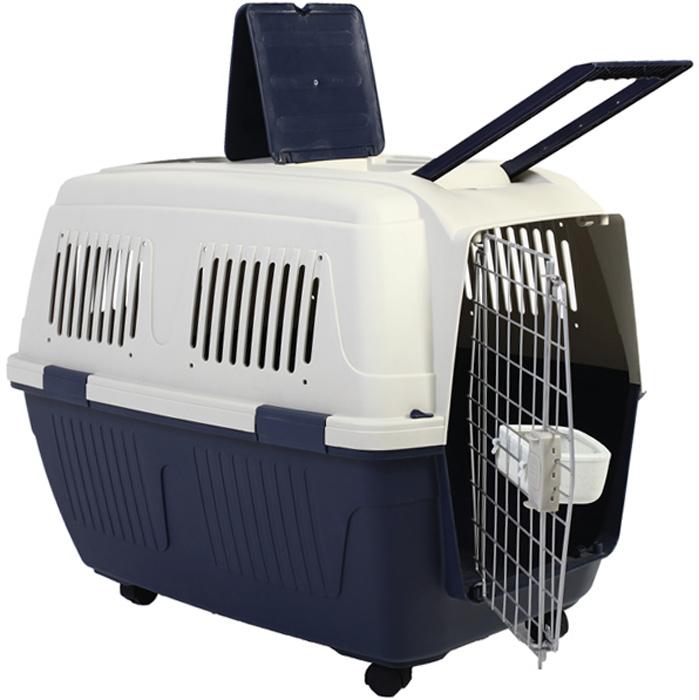Переноска для собак Triol Standard Large, 82 x 57 x 60 см31821007Эта прочная и максимально комфортная для питомца переноска выполнена из высококачественного пластика. Изделие снабжено надежными креплениями, в комплекте миска, которая крепится на дверь. Колеса в комплектацию изделия не входят и приобретаются отдельно. Металлическая дверца переноски плотно запирается, вентиляционные решетки позволяют питомцу свободно дышать, а крепкая и удобная пластиковая ручка максимально упрощает транспортировку животного. Переноска соответствует требованиям Международной Ассоциации Воздушного Транспорта (IATA) и подходит для авиаперевозок. Подходит для собак таких пород, как самоедская собака, золотой ретривер, немецкая овчарка, далматин, аляскинский маламут. Размер изделия: 82 х 57 х 60 cм. Высота с колесами - 68 cм. Максимально допустимая нагрузка: 25 кг.
