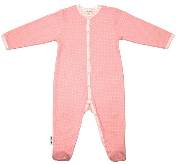 Комбинезон домашний детский Luky Child, цвет: розовый. А2-101. Размер 56/62А2-101Детский комбинезон Lucky Child - очень удобный и практичный вид одежды для малышей. Комбинезон выполнен из натурального хлопка, благодаря чему он необычайно мягкий и приятный на ощупь, не раздражают нежную кожу ребенка и хорошо вентилируются, а эластичные швы приятны телу малыша и не препятствуют его движениям. Комбинезон с длинными рукавами и закрытыми ножками имеет застежки-кнопки, которые помогают легко переодеть младенца или сменить подгузник. С детским комбинезоном Lucky Child спинка и ножки вашего малыша всегда будут в тепле, он идеален для использования днем и незаменим ночью. Комбинезон полностью соответствует особенностям жизни младенца в ранний период, не стесняя и не ограничивая его в движениях!