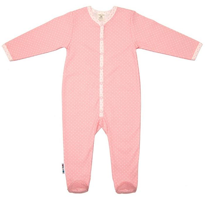Комбинезон домашний детский Luky Child, цвет: розовый. А2-103. Размер 80/86А2-103Детский комбинезон Lucky Child - очень удобный и практичный вид одежды для малышей. Комбинезон выполнен из натурального хлопка, благодаря чему он необычайно мягкий и приятный на ощупь, не раздражают нежную кожу ребенка и хорошо вентилируются, а эластичные швы приятны телу малыша и не препятствуют его движениям. Комбинезон с длинными рукавами и закрытыми ножками имеет застежки-кнопки, которые помогают легко переодеть младенца или сменить подгузник. С детским комбинезоном Lucky Child спинка и ножки вашего малыша всегда будут в тепле, он идеален для использования днем и незаменим ночью. Комбинезон полностью соответствует особенностям жизни младенца в ранний период, не стесняя и не ограничивая его в движениях!