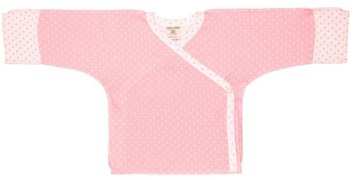 Распашонка детская Luky Child, цвет: розовый. А2-107. Размер 62/68А2-107Распашонка-кимоно Lucky Child послужит идеальным дополнением к гардеробу вашего ребенка. Распашонка, изготовленная из натурального хлопка, необычайно мягкая и легкая, не раздражает нежную кожу ребенка и хорошо вентилируется, а эластичные швы, выполненные наружу, приятны телу младенца и не препятствуют его движениям. Модель с V-образным вырезом горловины и длинными рукавами-кимоно оформлена принтом. Также распашонка дополнена специальными отворотами на рукавах и застегивается на металлические застежки-кнопки по принципу кимоно. В таком кимоно вашему ребенку будет уютно и комфортно!
