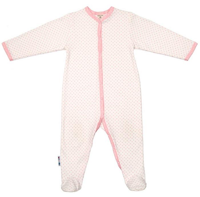 Комбинезон домашний детский Luky Child, цвет: молочный. А2-101/молочный. Размер 68/74А2-101/молочныйДетский комбинезон Lucky Child - очень удобный и практичный вид одежды для малышей. Комбинезон выполнен из натурального хлопка, благодаря чему он необычайно мягкий и приятный на ощупь, не раздражают нежную кожу ребенка и хорошо вентилируются, а эластичные швы приятны телу малыша и не препятствуют его движениям. Комбинезон с длинными рукавами и закрытыми ножками имеет застежки-кнопки от горловины до щиколоток, которые помогают легко переодеть младенца или сменить подгузник. С детским комбинезоном Lucky Child спинка и ножки вашего малыша всегда будут в тепле, он идеален для использования днем и незаменим ночью. Комбинезон полностью соответствует особенностям жизни младенца в ранний период, не стесняя и не ограничивая его в движениях!